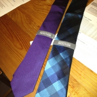New ties that I will rarely wear.