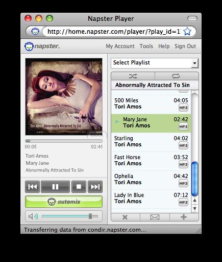 Tori Amos on Napster